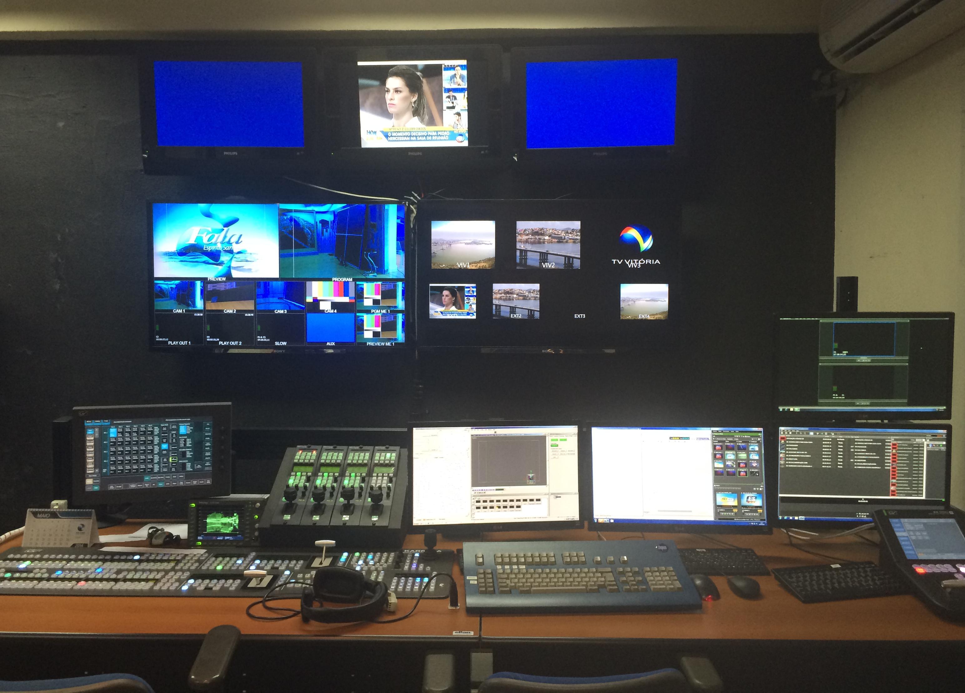 Faltam 3 Dias Sistema Full Hd Facilita Intera O Entre  -> Sala De Redacao Na Tv Ao Vivo