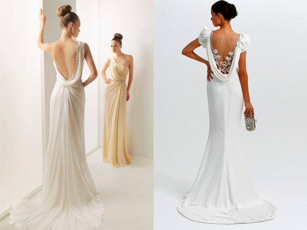 A onda dos vestidos com detalhes ou decotes nas costas | Folha ...