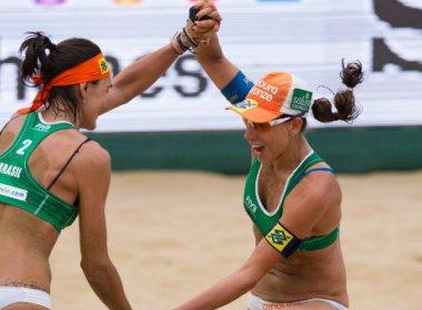 Fernanda Berti e Taiana faturam o ouro no vôlei de praia | Folha ...