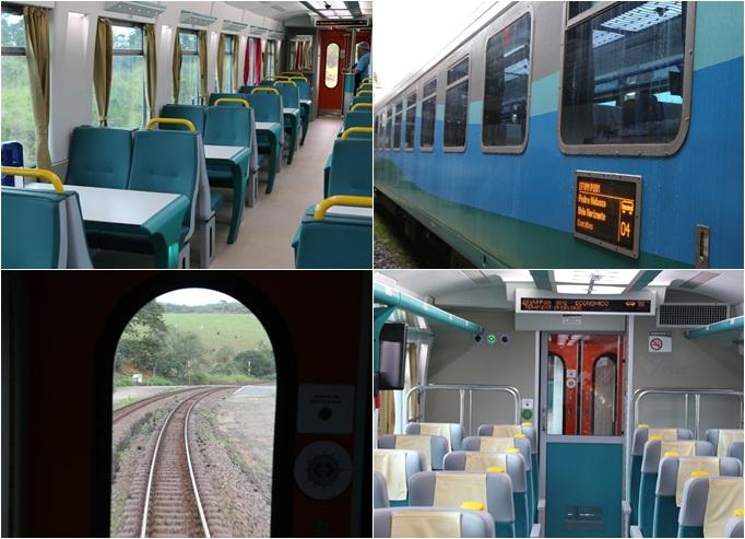 O trem novo em folha fez a viagem inaugural para jornalistas capixabas