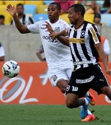 Botafogo bate Santos em dia de homenagem