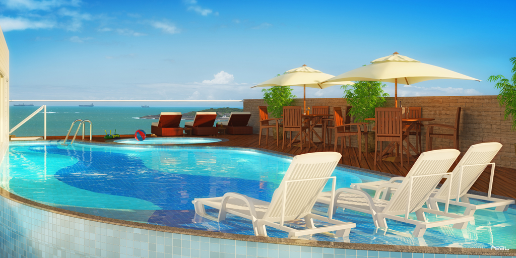 Decks ganham destaque nas piscinas dos pr dios folha vit ria for Piscinas vitoria