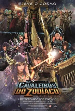 Cartaz Os Cavaleiros Do Zodíaco: A Lenda Do Santuário