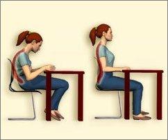Cuidado com a postura do aluno na sala de aula folha vit ria for Sillas para una buena postura