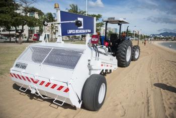 Praias de Vitória terão areias varridas pelo 'tatuí