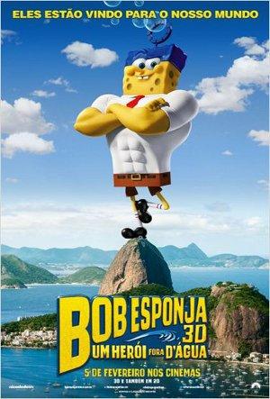 Cartaz Bob Esponja: Um Herói Fora D'água