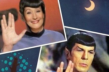 Em montagem, Sonia Abrão encarna personagem Spock | Folha ...
