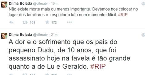 Comentário de Dilma Bolada sobre morte de filho do Alckmin causa ...