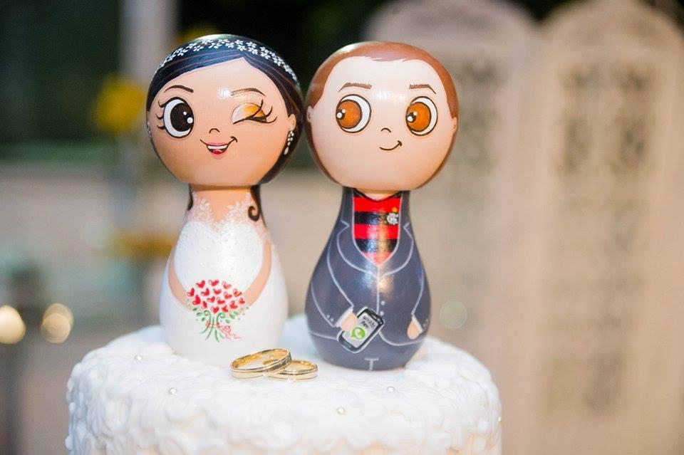 Topos de bolo criativos dão tom elegante e divertido ao casamento ...