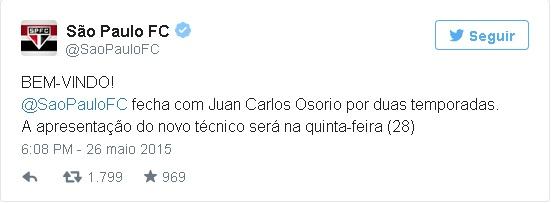 São Paulo fecha a contratação do técnico Juan Carlos Osório ...