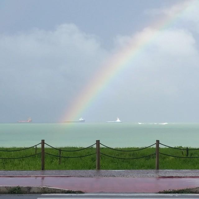 Espetáculo da natureza: Arco-íris encanta capixabas após chuvas ...