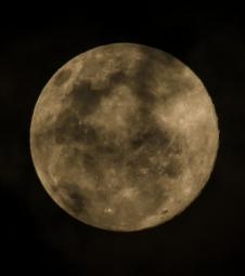Lua cheia é atração no Parque da Fonte Grande