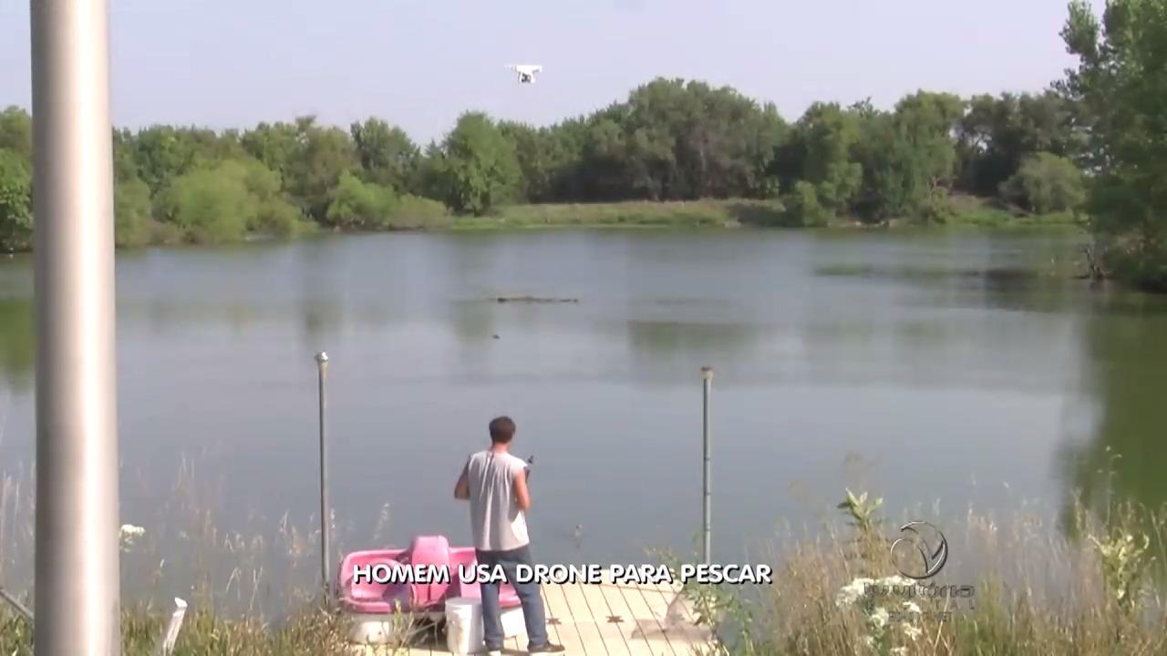 Fazendeiro usa drone para pescar   Folha Vitória