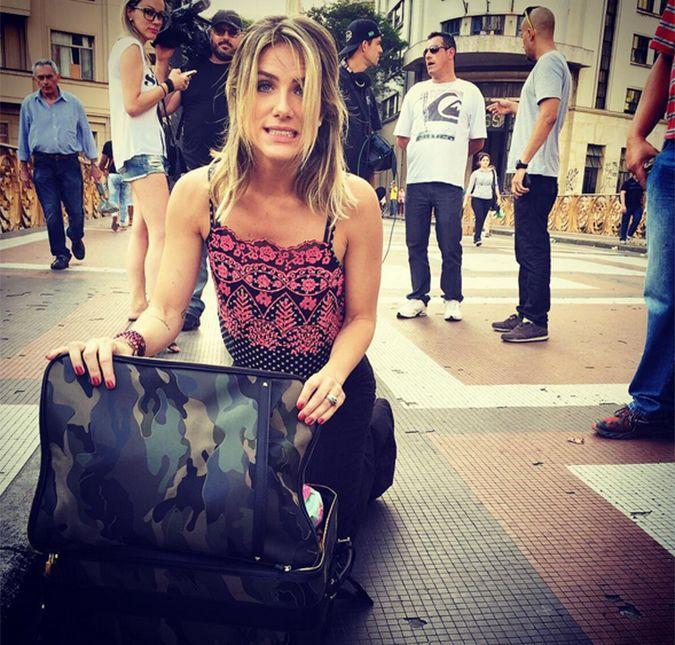 Giovanna Ewbank perde a vergonha ao trocar de roupa em viaduto ...