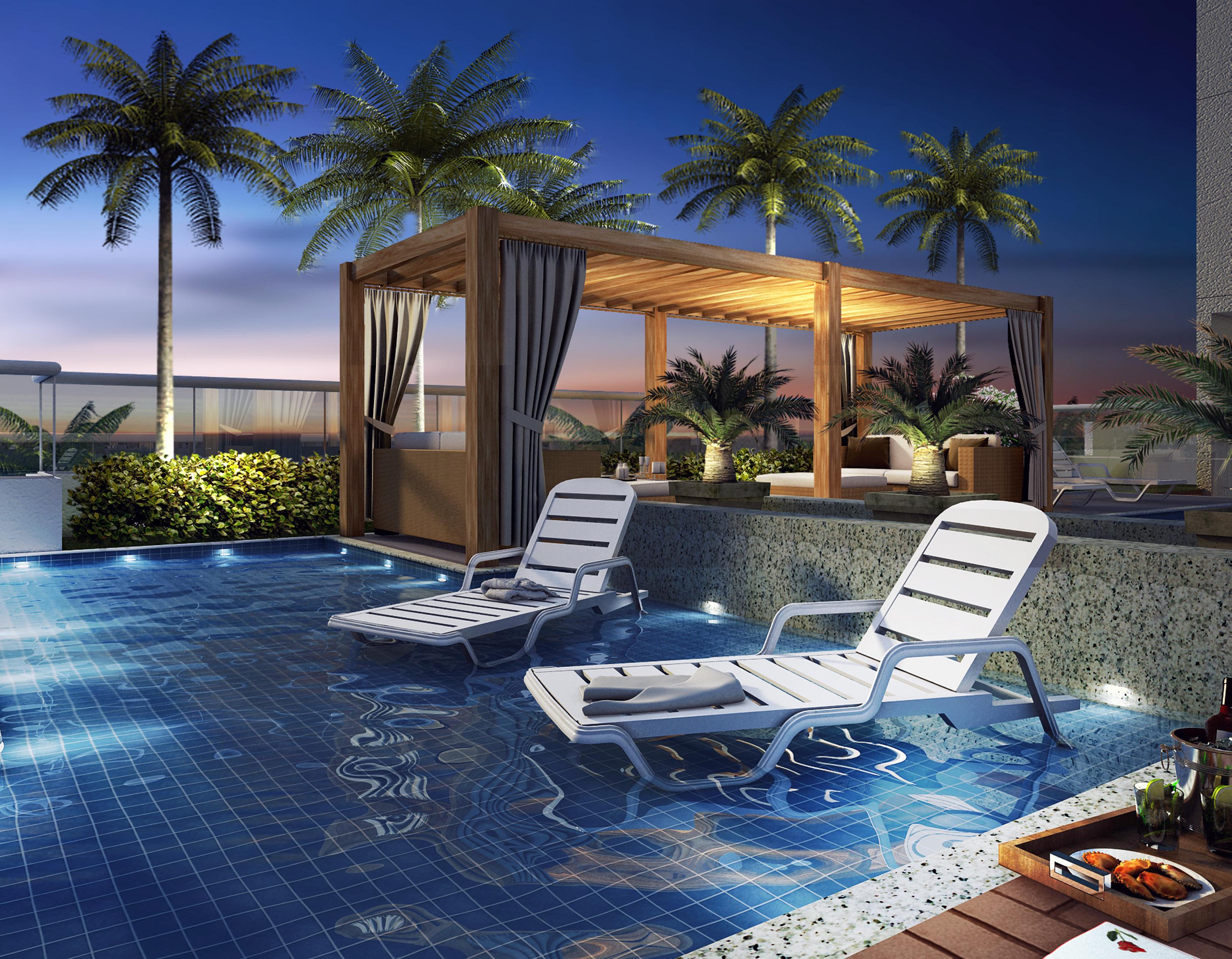 Descanso de resort em condom nios beira mar em vila for Hotel jardines de uleta vitoria