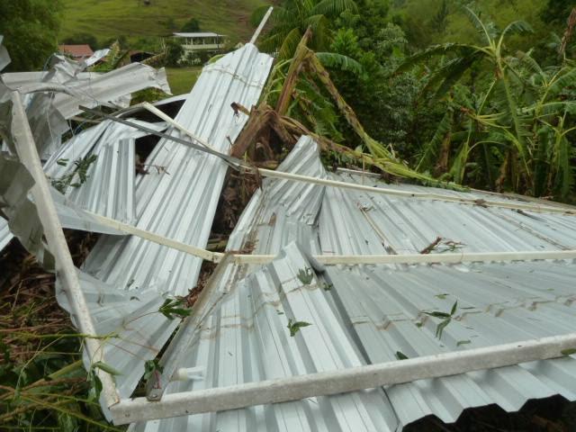 Temporal e chuva de granizo destroem plantações em Alfredo Chaves