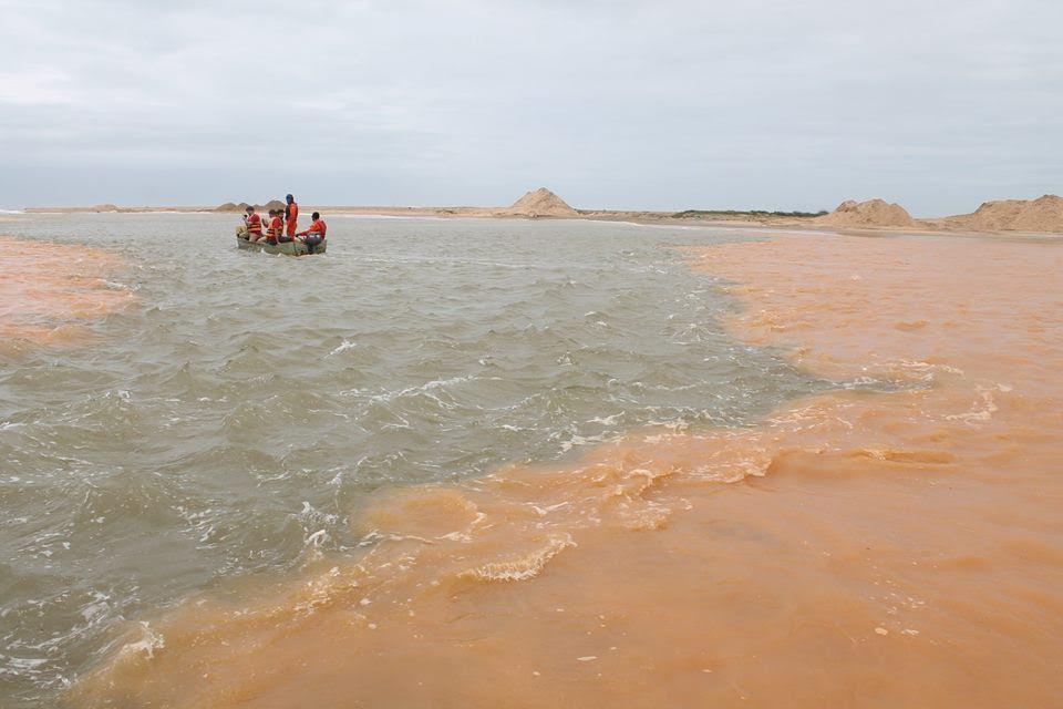 """"""" Mar de Lama"""": Praias interditadas em Regência após chegada de ..."""