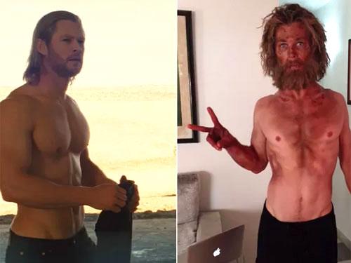 Chris Hemsworth aparece irreconhecível em foto das gravação de ...
