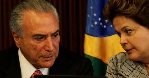Dilma e Temer estão reunidos no Palácio do Planalto