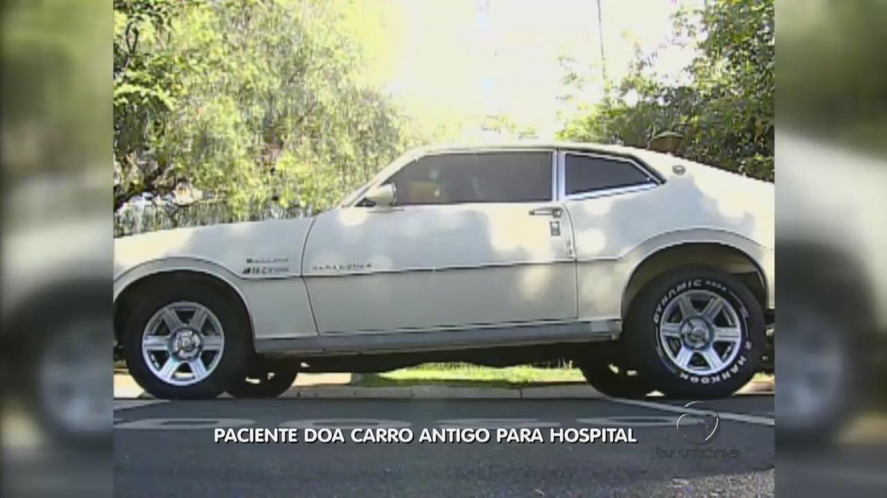 Boa ação: paciente doa carro antigo para hospital   Folha Vitória