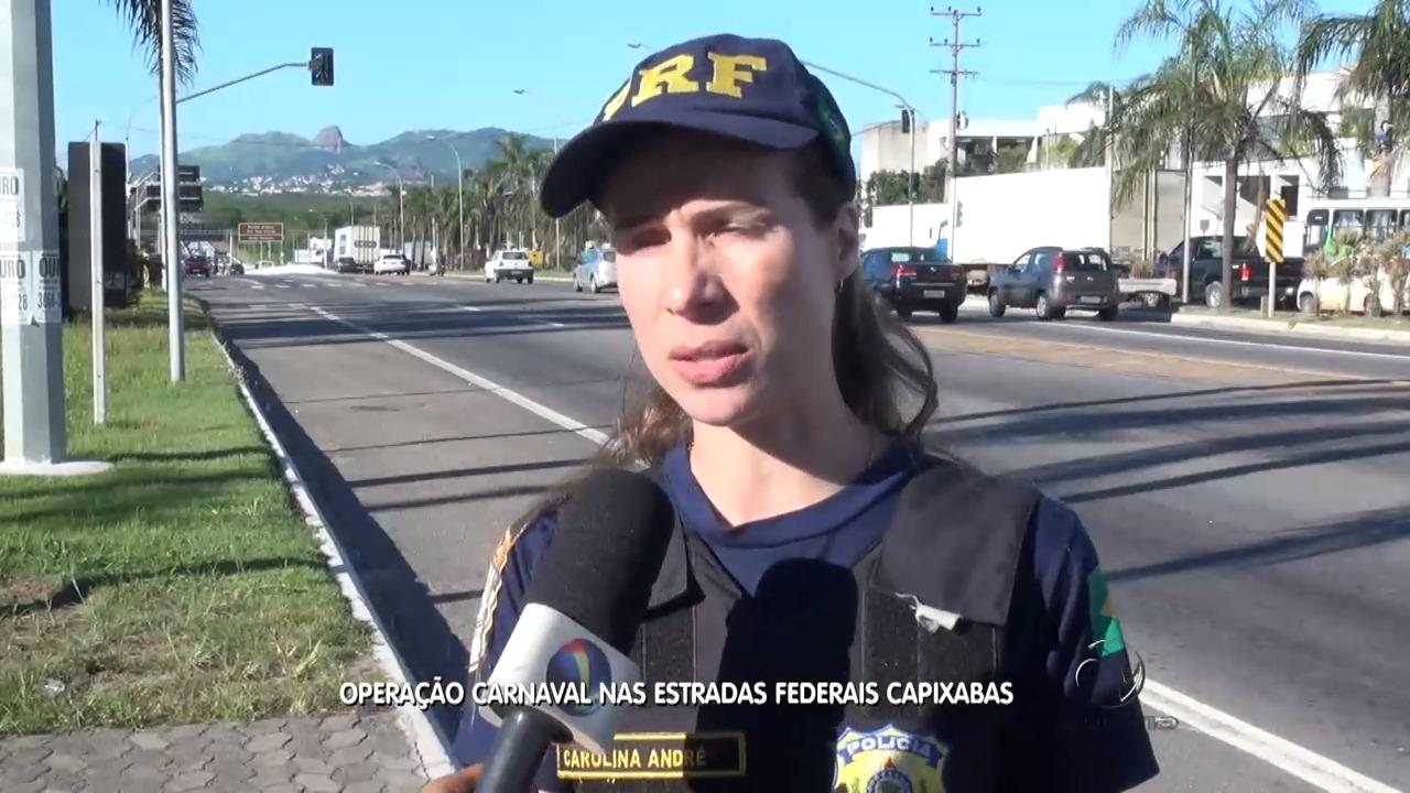Operação carnaval nas estradas federais capixabas | Folha Vitória