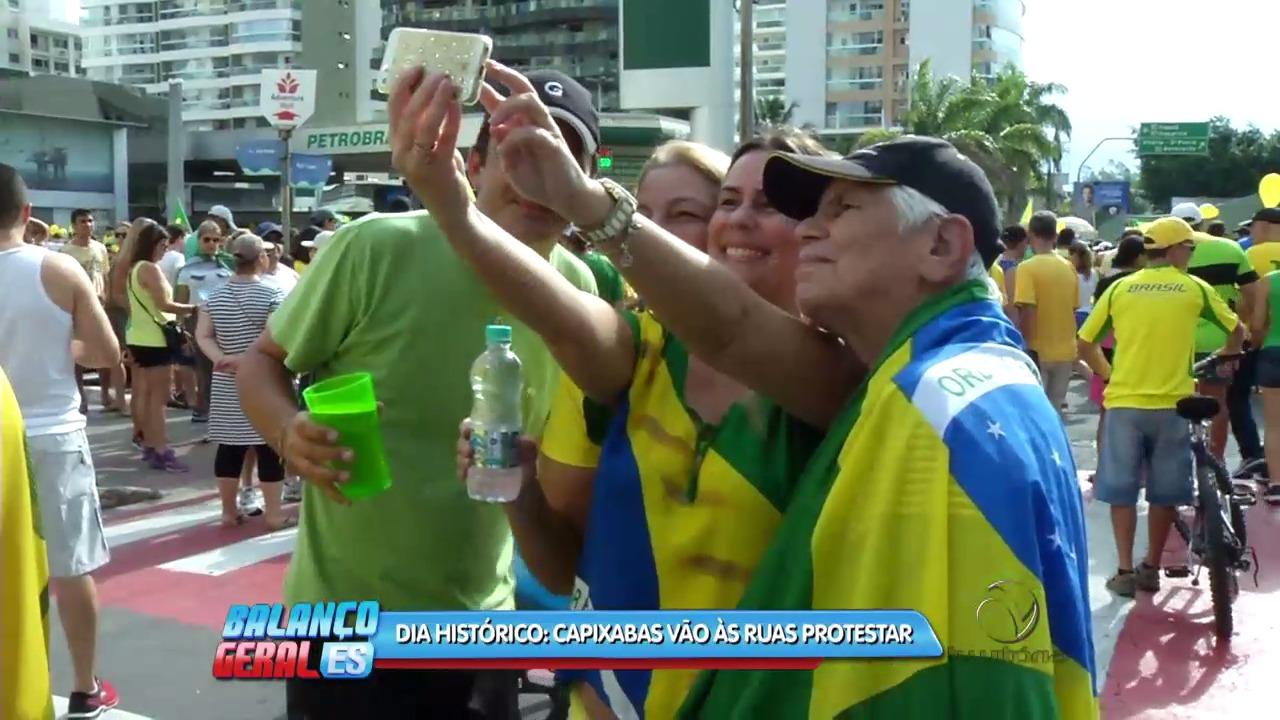 Dia histórico: Capixabas vão às ruas protestar | Folha Vitória