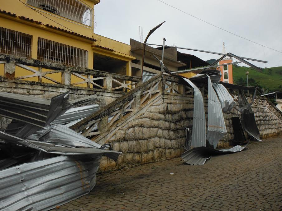 Árvores são arrancadas e famílias ficam desabrigadas após chuva ...