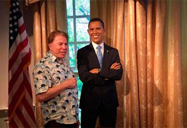 Durante as férias, Silvio Santos encontra Barack Obama | Folha Vitória