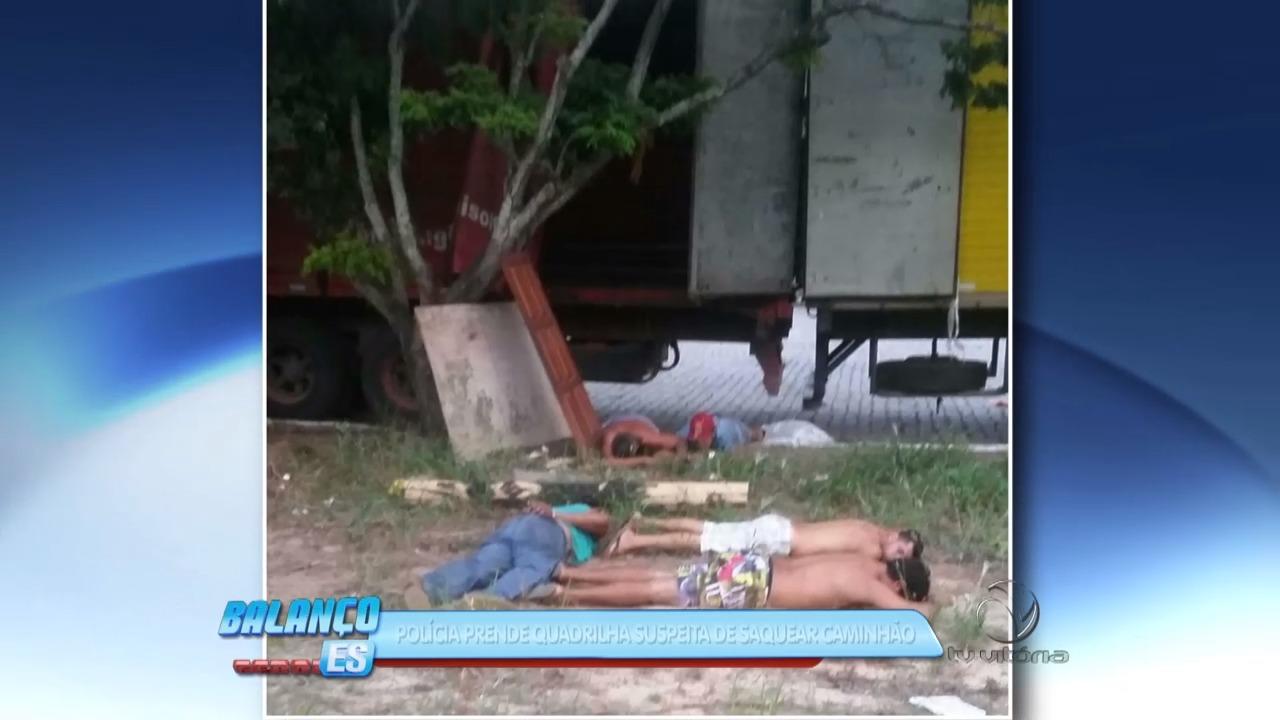 Polícia prende quadrilha suspeita de saquear caminhão | Folha Vitória
