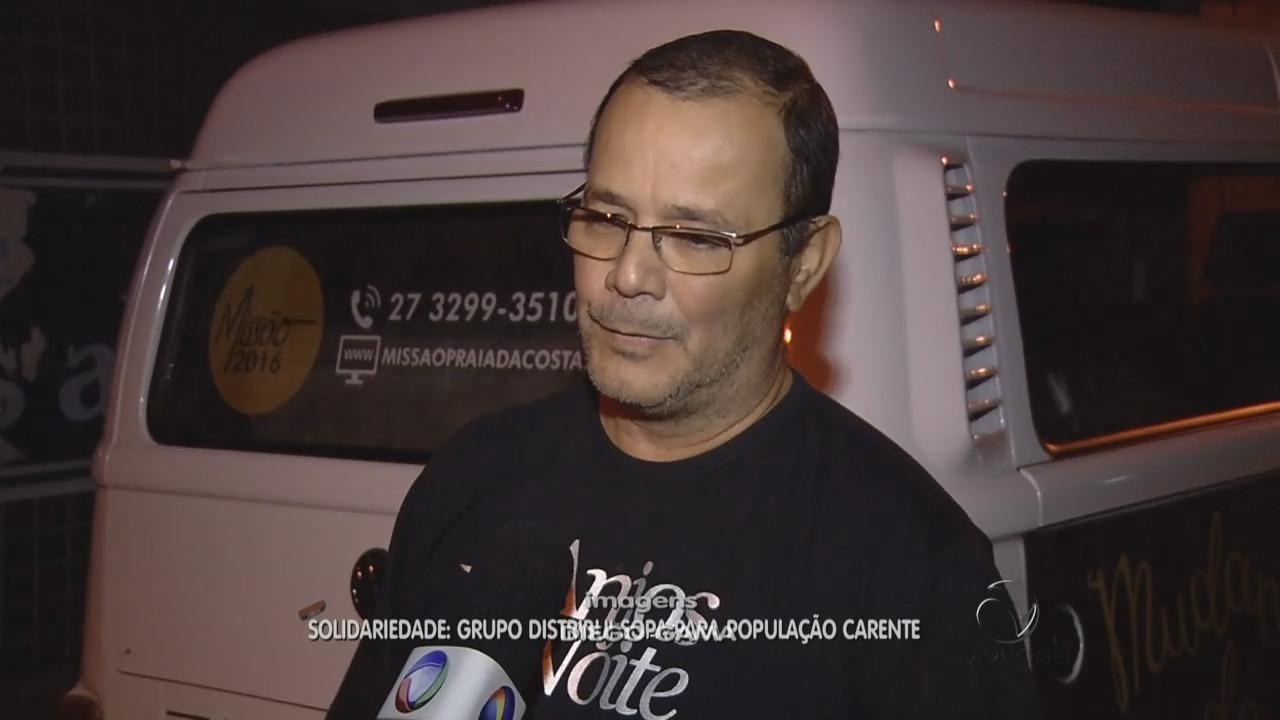 Grupo distribui sopa para população carente | Folha Vitória
