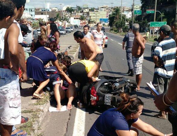 Acidente envolvendo moto e ciclista deixa dois feridos na BR 262 ...