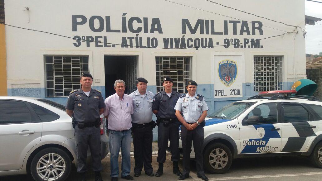 Polícia Militar reforça a segurança durante a festa em Atílio Vivácqua