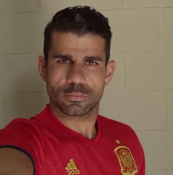 Del Bosque explicou que optou por não chamar Diego Costa em razão da  incerteza sobre a sua condição física. Foto  Reprodução Instagram 39b6fc156dbe4