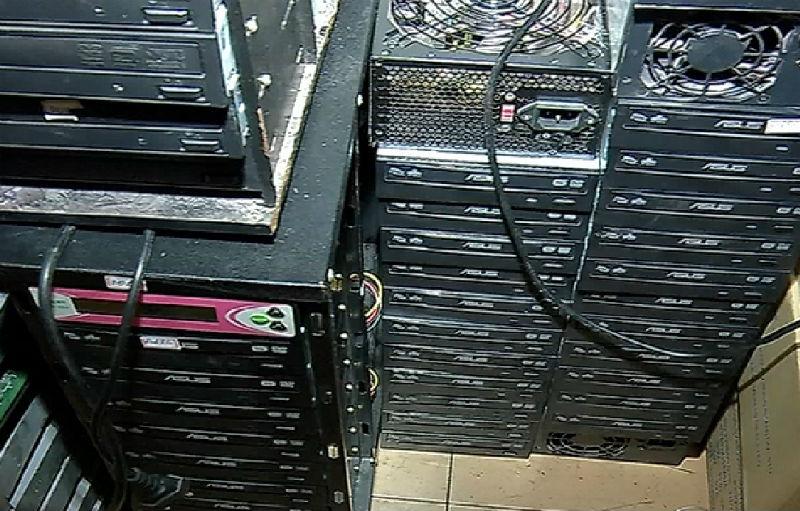 Polícia fecha laboratório de DVD pirata que abastecia comércio ...