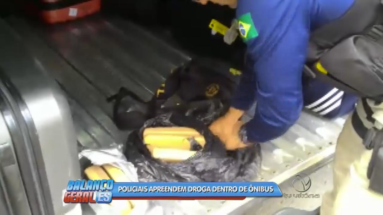 Polícia realiza grande apreensão de drogas dentro de ônibus em ...