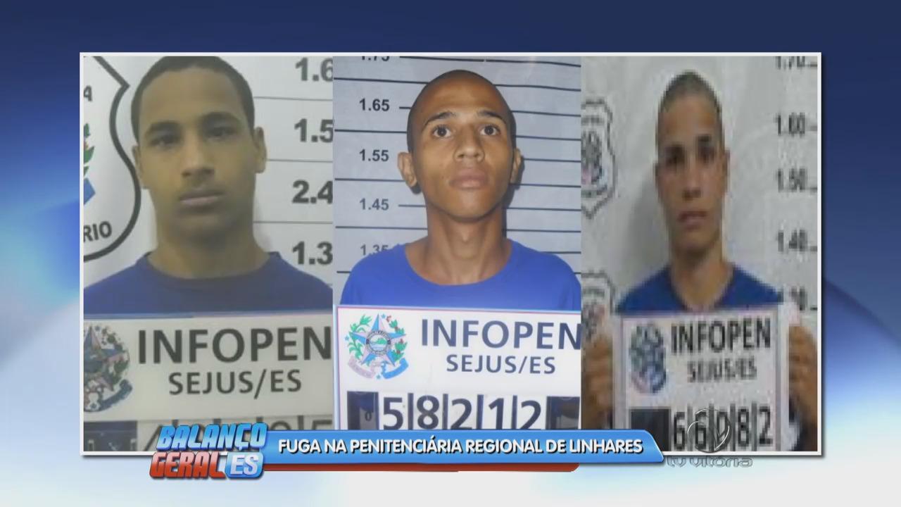 Três internos conseguem fugir da penitenciária regional de Linhares