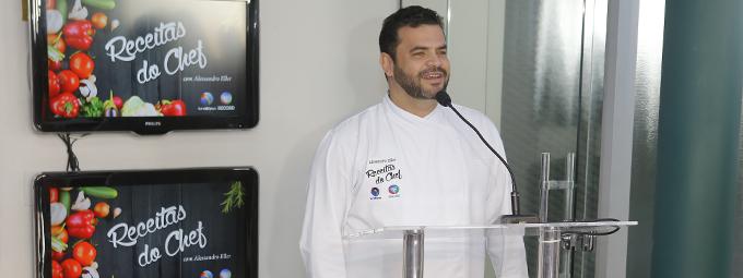 Chef Alessandro Eller estreia quadro na TV Vitória