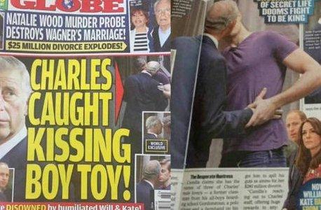 Príncipe Charles é flagrado beijando rapaz mais jovem, afirma revista