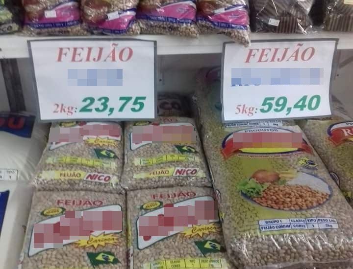 """""""Mais água no feijão"""": preço dispara e saco de 5kg chega a quase R ..."""