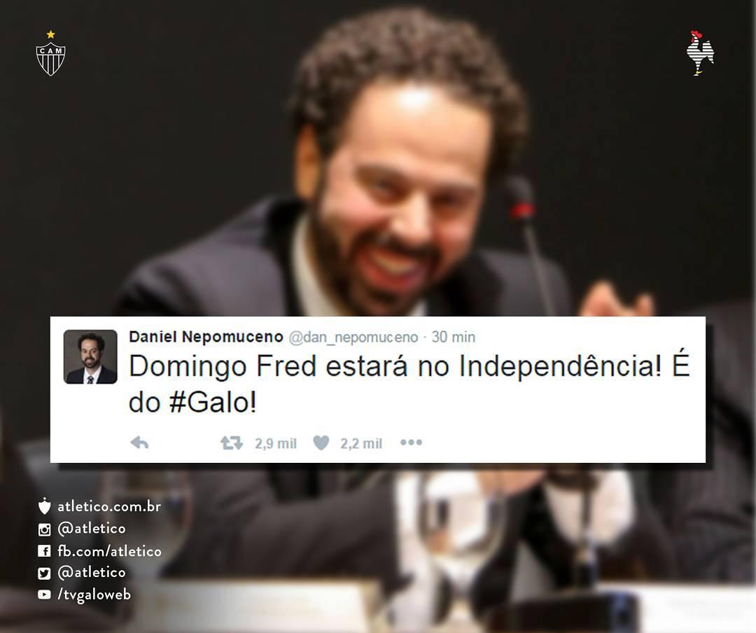 Presidente do Atlético- MG anuncia contratação do atacante Fred ...