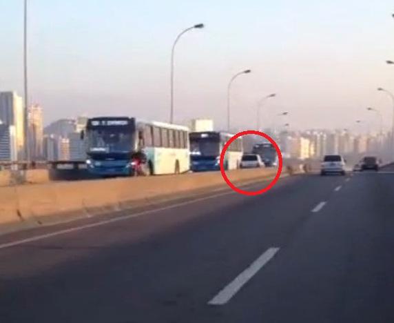 Motorista flagrado dirigindo na contramão na Terceira Ponte ...