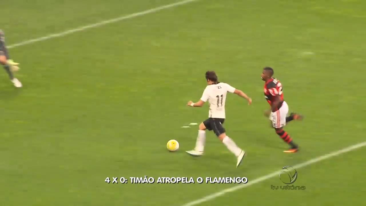 Timão dá show de goleada no time rubro-negro | Folha Vitória