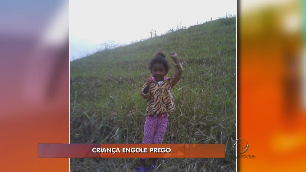 Criança de apenas 3 anos engole um prego | Folha Vitória