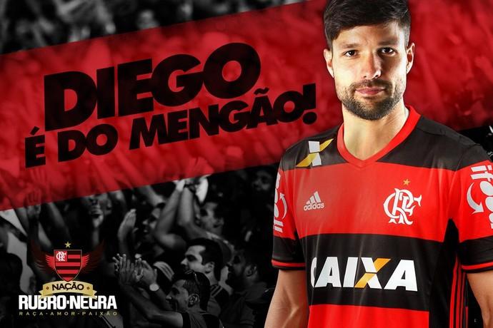Flamengo confirma a contratação do meia Diego após longa ...
