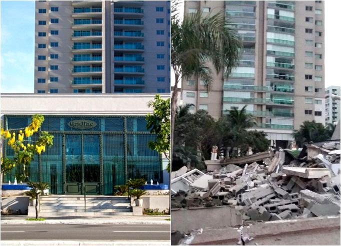 Fotos mostram antes e depois do desabamento em prédio de luxo ...