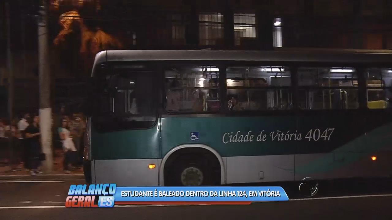 Estudante é baleado em ônibus ao ir para faculdade em Vitória ...