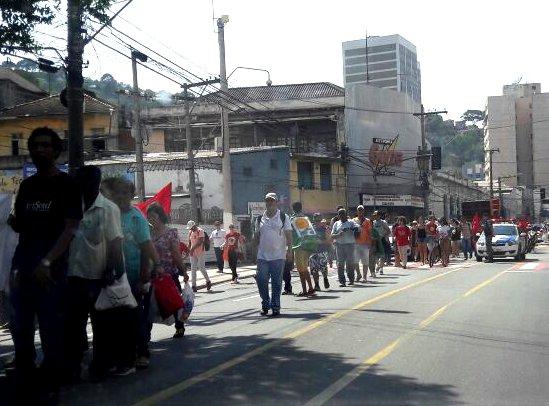 Manifestação a favor da presidente afastada Dilma Rousseff deixa ...