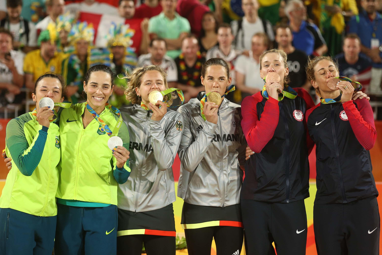 Segundo ouro seguido da Alemanha no vôlei de praia inspira geração