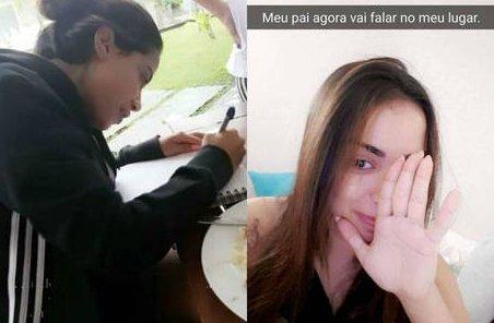 Proibida de falar, Anitta se comunica com papel e caneta   Folha ...