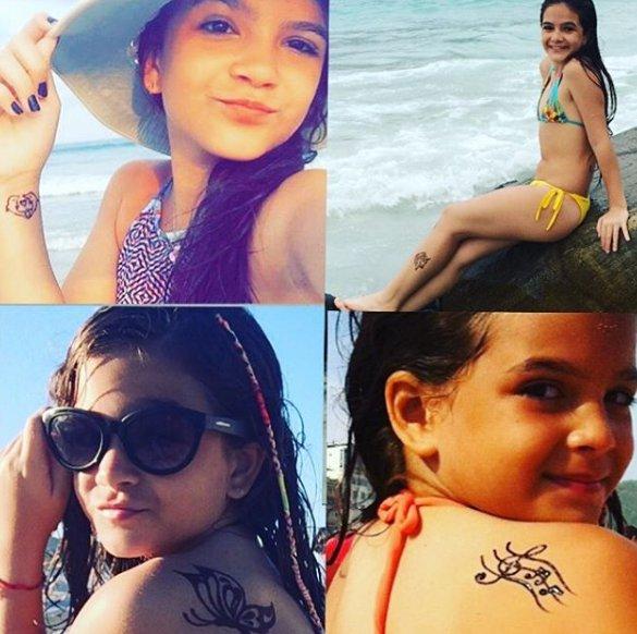 Mel Maia, de 12 anos, se explica sobre tatuagens no corpo   Folha ...